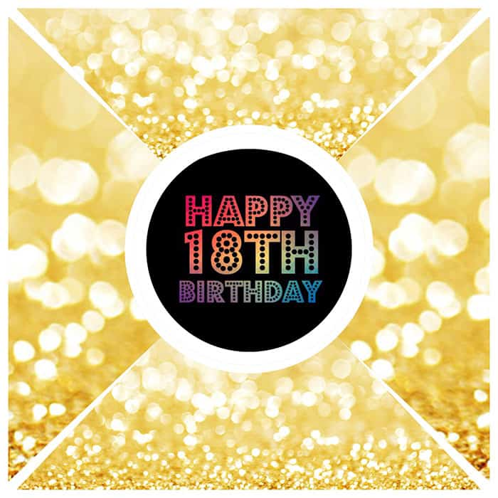 gold happy 18th birthday